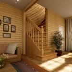 Угловая лестница в частном доме фото