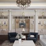 Фото дизайна большой гостиной в частном доме