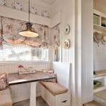 Фото оформления окна на кухне в стиле прованс