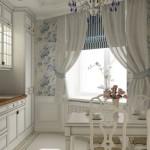 Оформление окна на кухне в стиле прованс