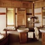 Фото дизайна ванной комнаты в деревянном доме