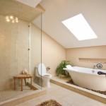 Идея для ванной на втором этаже