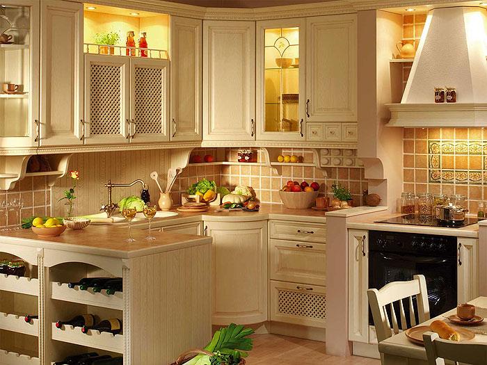 Кантри стиль в дизайне кухни
