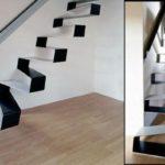 Необычная металлическая лестница на второй этаж