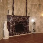 Угловой камин из мрамора