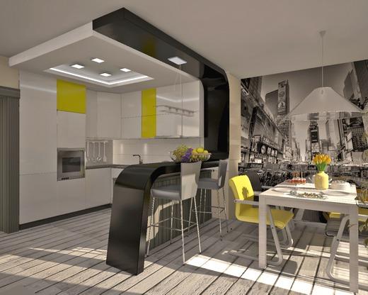 Дизайн кухни, интерьер квартиры, ремонт и мебель