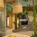 Тропический стиль в гостиной