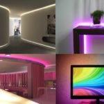 Использование светодиодных лент в интерьере квартиры: идеи